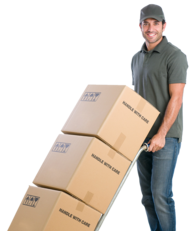 Local Moving Company near Hoboken, NJ with man moving boxes